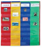 2 & 4 Column Double-Sided Pocket Chart