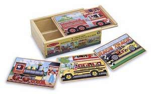 4-12 Piece Vehicle Jigsaw Puzzle